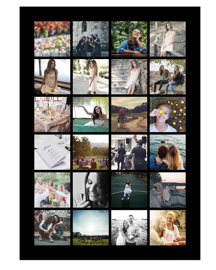 Instagramplakat: 24 billeder - Plakattrykkeren.dk