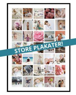 Fotocollage med 35 billeder