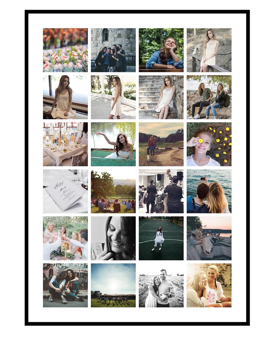 Image of   Fotocollage med 24 billeder - design selv