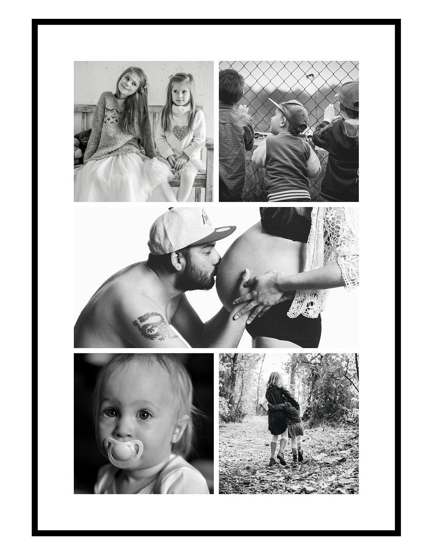Image of   Fotocollage med 4+1 billeder - vi designer for dig