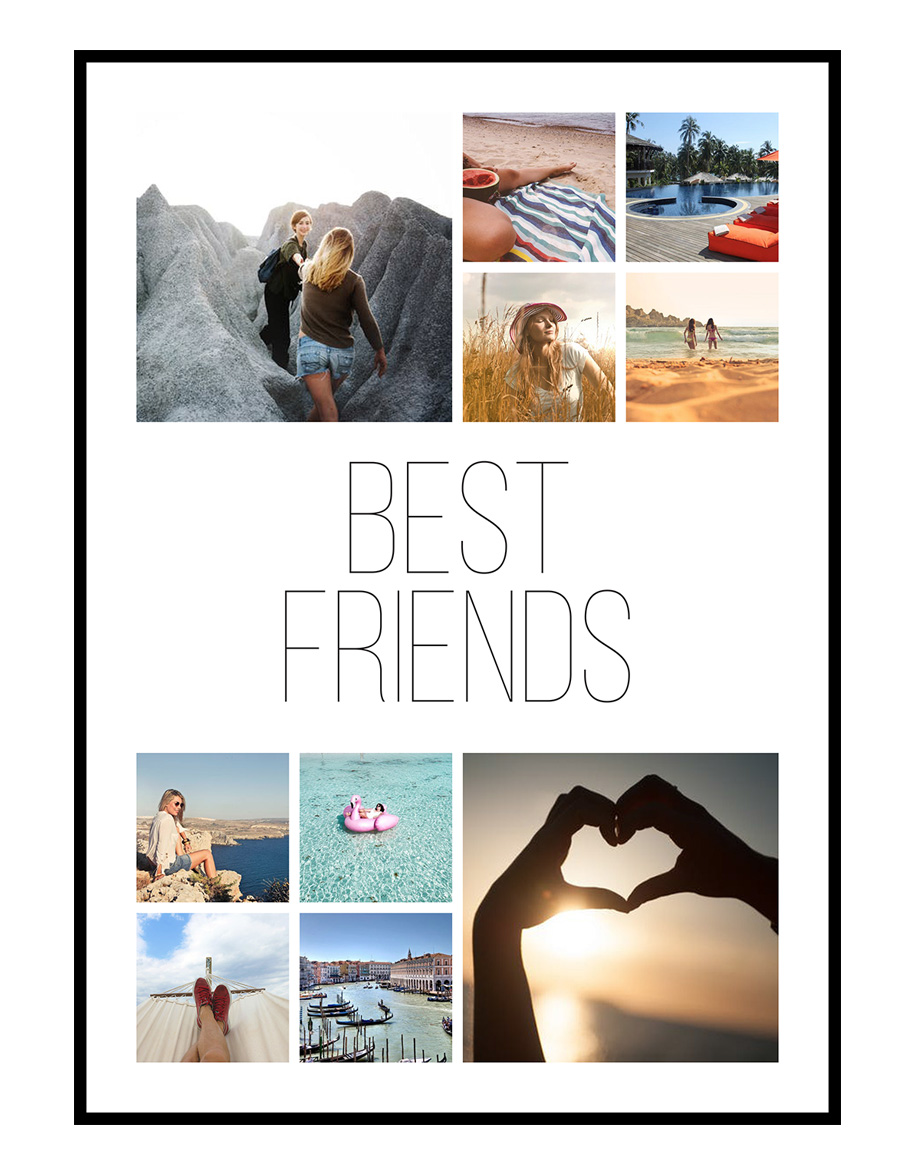 Image of   Best Friends fotocollage 10 billeder - vi designer for dig
